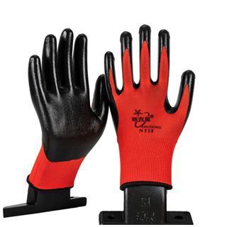 劳保耐磨带胶胶手套