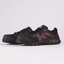 清扬款大孔透气网面+发泡橡胶大底+玻纤头防砸安全鞋