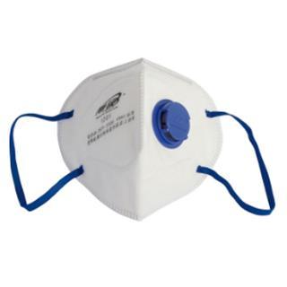 带阀折叠式颗粒物防护口罩