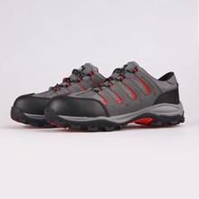 灰色超纤+网布+户外飞龙底+塑钢头,凯夫拉防砸防刺穿电绝缘轻便透气安全鞋