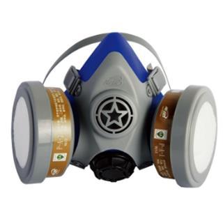 豪华低阻舒适型双盒尘毒防护组套(有机蒸气防护特别适用于喷漆和内燃机尾气防护,双盒)卡扣接口